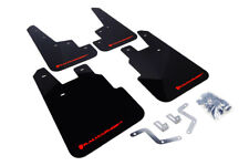 Rally Armor Black Mud Flaps w/ Red Logo For 2014-2018 Subaru Forester