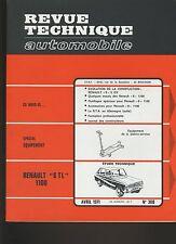 (30B) REVUE TECHNIQUE AUTOMOBILE RENAULT 6TL 1100