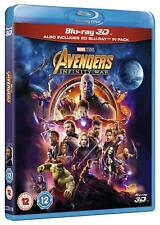 Avengers: Infinity War 3D [Blu-ray 3D + 2D, Region Free, Marvel Universe] NEW