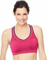 Hanes Sport, Women's Seamless Racerback Sports Bra. S, M, L - Pink, Turquoise