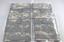 Lot of 4 Admin Pouches NEW, ACU, MOLLE II Utility, Universal Camouflage, US Army