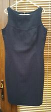 NEXT PINAFORE Dress - Size 10 - DARK GREY  Fitted - FULLY LINED - GENUINE.