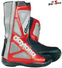 "Daytona ""Evo Supermoto"" SuMo-Stiefel in Rot-Silber Größe 40 41 42 43 44 45 46 47"