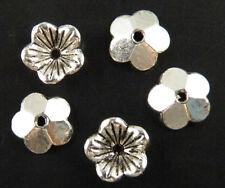 200pcs Tibetan Silver Nice Flower Bead Caps Jewelry DIY 10x3mm