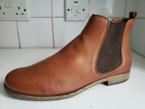 DUNE LONDON UK 6 EU 39 WOMENS BROWN TAN LEATHER FLAT ANKLE CHELSEA BOOTS SHOES