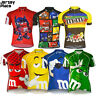 M&M Team Cycling Jersey Retro Road Pro Clothing MTB Short Sleeve Racing Bike