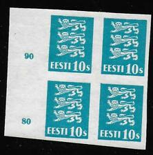 Estonia stamps 1928 MI 79a Imperforated PROOF Bloc of 4 MNH VF