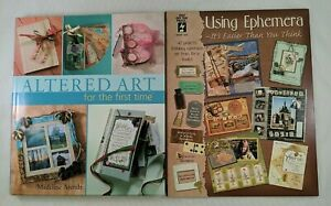 Altered Art & Using Ephemera Lot of 2 Books Paper Ephemera Altered Art Projects