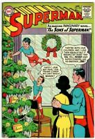SUPERMAN #166 (7.5) CHRISTMAS COVER!! 1964 The Sons of Superman! Nice Copy!