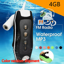 4GB Waterproof IPX8 Clip MP3 Player FM Radio Stereo Sound Swimming Diving Player