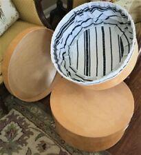 Large Vintage BentWood Round Storage Display or Hat Boxes