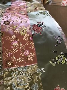 Chinoiserie Vintage Curtains Very Good Condition, Tab Tops
