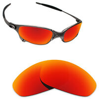Scratch Proof Polarized Replacement Lenses for-Oakley Juliet Sunglass Orange Red