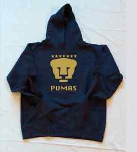 New Pumas DE la UNAM KIDS NAVY/GOLD Sweatshirt Hoodie