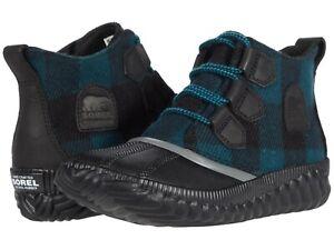 Women's Shoes Sorel OUT N ABOUT PLUS Ankle Rain Duck Boots 1929931010 BLACK