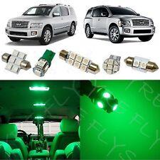 19x Green LED lights interior package kit for 2004-2010 Infiniti Qx56 IQ2G