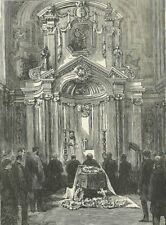 Antique print FUNERAL OF LORD CAVENDISH Chatsworth The Graphic 1882 England