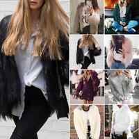 2017 Women's Warm Faux Fur Coat Jacket Cardigan Winter Tops  Parka Outwear
