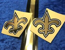New Orleans SAINTS Custom Chrome Full Size Football Helmet Decals High Quality