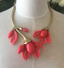 Oscar De La Renta Peach Tulip Necklace