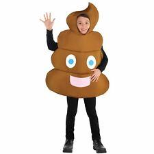 Kids Poop Emoticon Funny Smiley Emoji Fancy Dress Costume Boys Girls