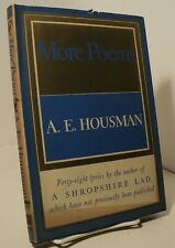 More Poems by A E Housman - 1936 - First edition - pwe11