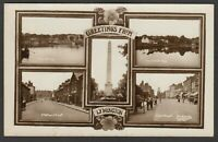 Postcard Lymington Hampshire early multiview Station Street etc posted 1923 RP