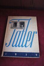 "1939 ""THE TATLER"" WILLIAM PENN SENIOR HIGH SCHOOL YEARBOOK"