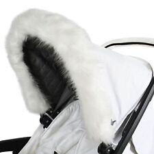 My Babiie Baby Pram / Stroller / Pushchair Elasticated Hood Fur - White