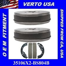 Set Of 2 Brake Drums & Shoes-  Rear Fit Toyota Sienna 2004-2010 35106X2-BS804B