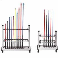 Aluminum Fishing Rods Holder Rack 12 Rods 24 Rods Ground Display Stand Organizer