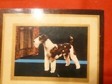 FOX TERRIER DOG PICTURE ON WOOD