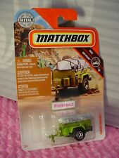 2018 Matchbox #94 TRAILER TRAWLER☆green w/gray canoe☆MBX OFF ROAD ☆case J/K