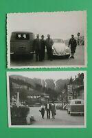 2x Foto Auto Oldtimer VW Bulli Käfer 1950-1970er Kennzeich. Straubing Österreich