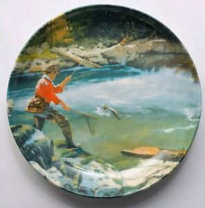 NEW Brett Smith Bowl Collectible Art Fishing Outdoors Sport LARGE Deep the Blue