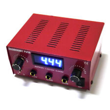 HILDBRANDT Abrams Dual Machine Tattoo Power Supply Unit AC Phono Box Red 2 Amp