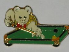 RUPERT BEAR Collectable Badges * PLAYING SNOOKER  *  yellow vest vgc