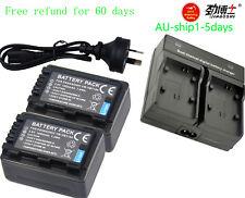 LED Charger +2x Battery for Panasonic VW-VBT190 VBT380 HC-VX870 VX980 W580 V380