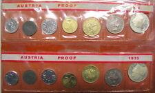 Österreich KMS 1972 1973 Proof Kleiner Kursmünzsatz PP m. Silber Coin Set 33,34S