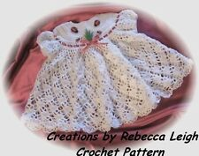 "CROCHET PATTERN for ""BLUEBELLS"" Baby Dress by REBECCA LEIGH---6M & 12M"