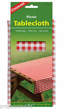 "PICNIC TABLECLOTH VINYL  STITCHED EDGES 54"" X 72"" EASY WIPE CLEAN & STORE"
