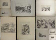 1847-JEAN BARON-LYON-RARA RACCOLTA 9 INCISIONI NUMERATE E DATATE-ORIGINALI