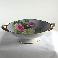 Beautiful Noritake signed footed serving dish with roses