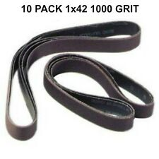 1x42 - 1000 Grit 10 Pack - Silicon Carbide Sanding Belts-High Grit Finishing New
