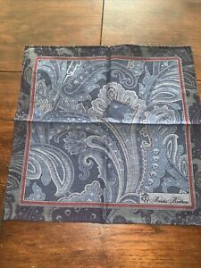 """Brooks Brothers Blue Paisley Pocket Scarf/ Square BRAND NEW RRP £45 12""""x 12"""""""