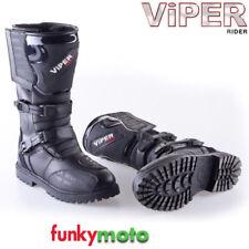 Bottes noirs Viper pour motocyclette Homme