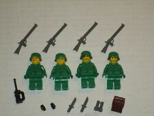 Lego Custom US Army 4 Military Soldier Minifigs w/ Weapons Modern Warfare WW2