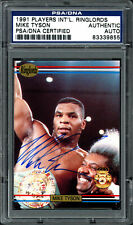 Mike Tyson Autographed 1991 Players International Ringlords Card PSA 83339855