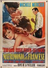 Le TONNERRE DE DIEU Italian 2F movie poster 39x55 MICHELE MERCIER ANGELIQUE