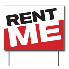 """Rent Me Curbside Sign, 24""""w x 18""""h, Full Color Double Sided"""